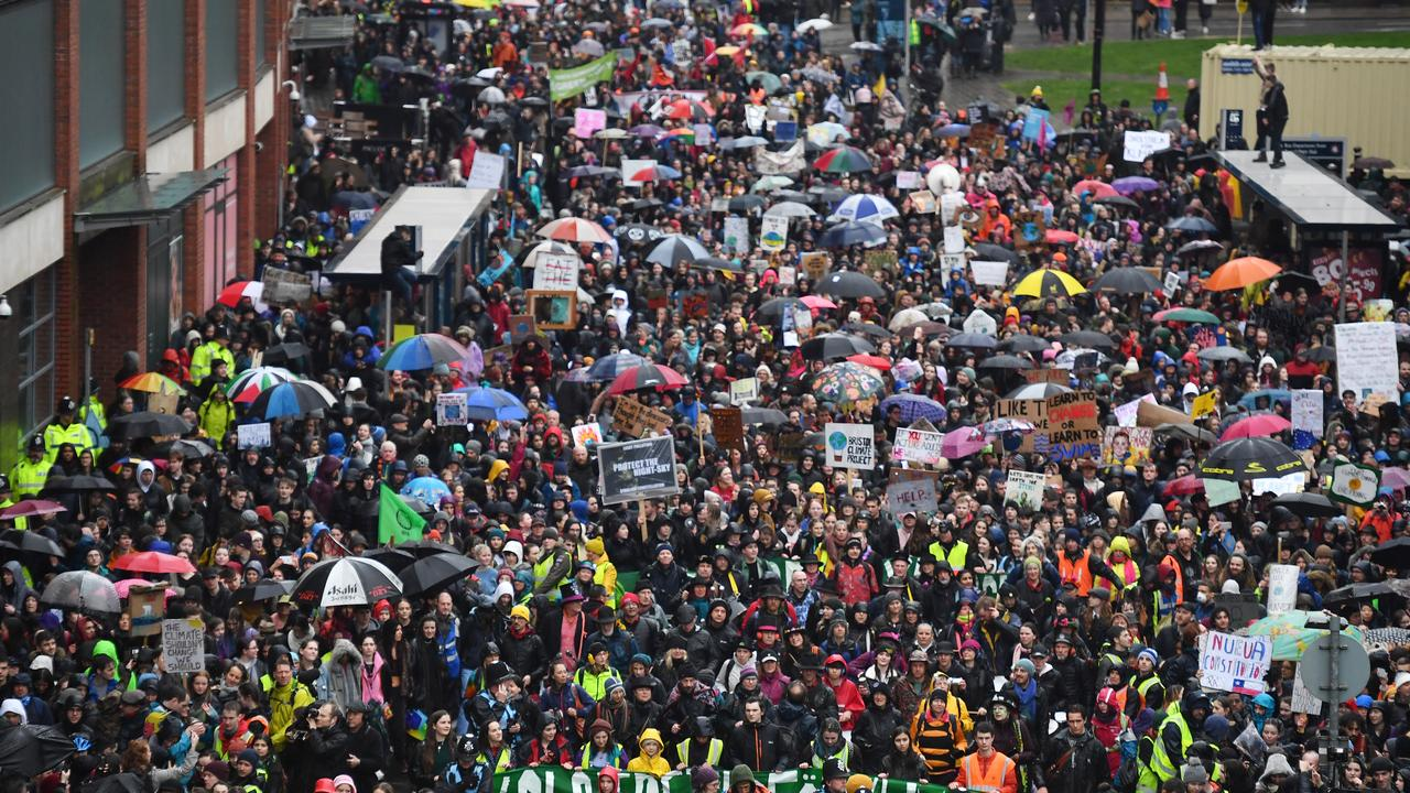 Around 15,000 people attended the march in Bristol, which has a population of less than half a million people. Picture: Leon Neal / Getty Images