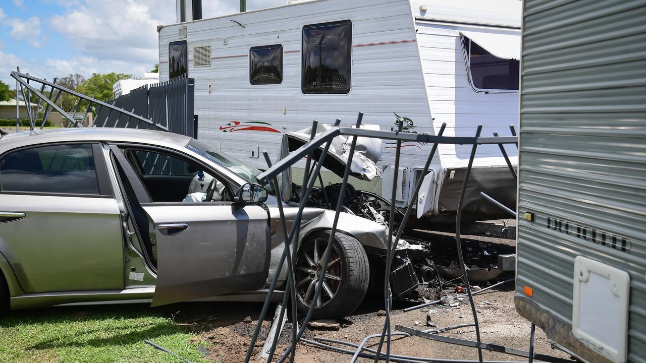 Car crashes through the fence at Takalvans.