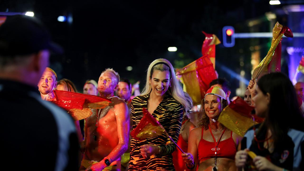 English model turned singer Dua Lipa also performed. Picture: Nikki Short