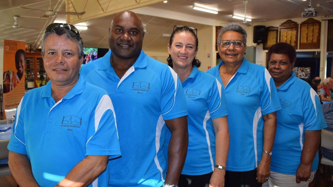 Bridging Health members Max Ritson, Ricco and Michelle Yasso, Pam Viti and Joanne Warkill.