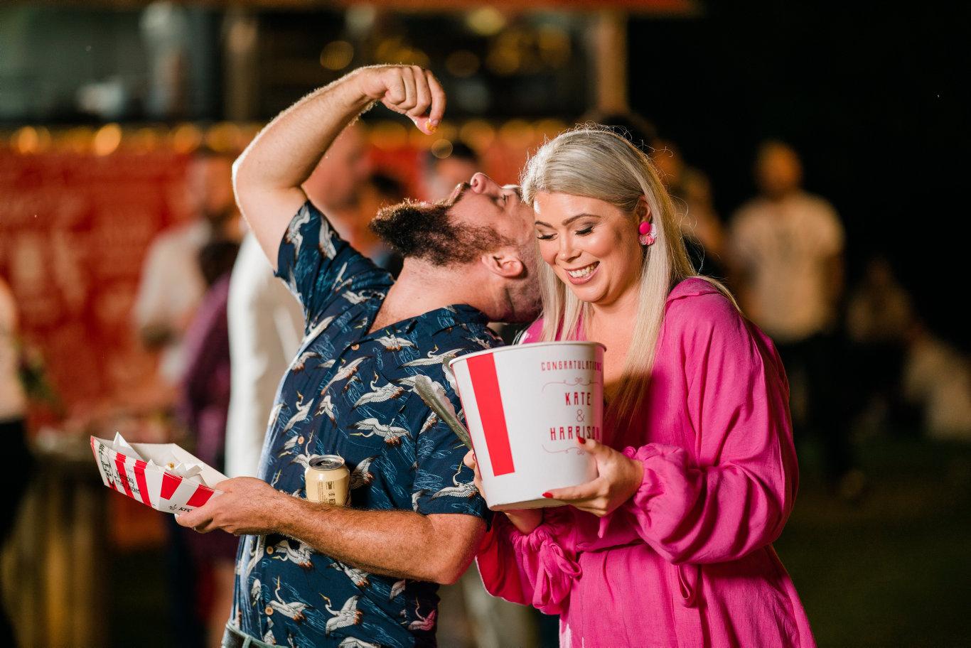 Photos from Toowoomba couple Kate and Harrison Cann's KFC wedding.