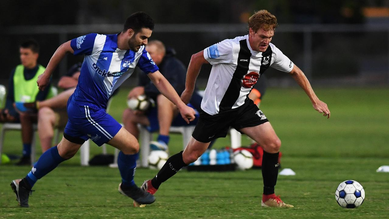 Ipswich City Bulls striker Trent Griffiths scored back-to-back goals in his team's recent FFA Cup successes. Picture: Rob Williams