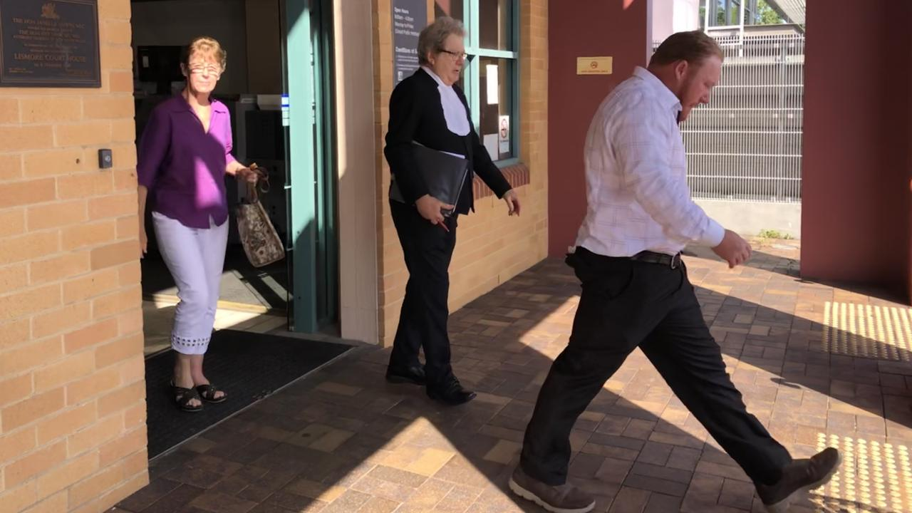 Andrew Stevenson steps out of Lismore Court on Monday. The fire brigade fraudster is awaiting sentencing on numerous dishonesty charges.