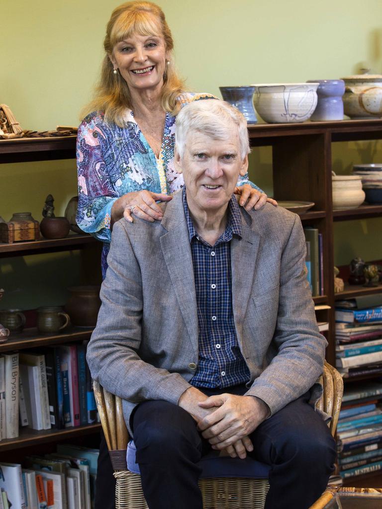 Australian playwright David Williamson and his wife Kristin.