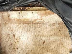 Clean up uncovers suspected asbestos sheeting