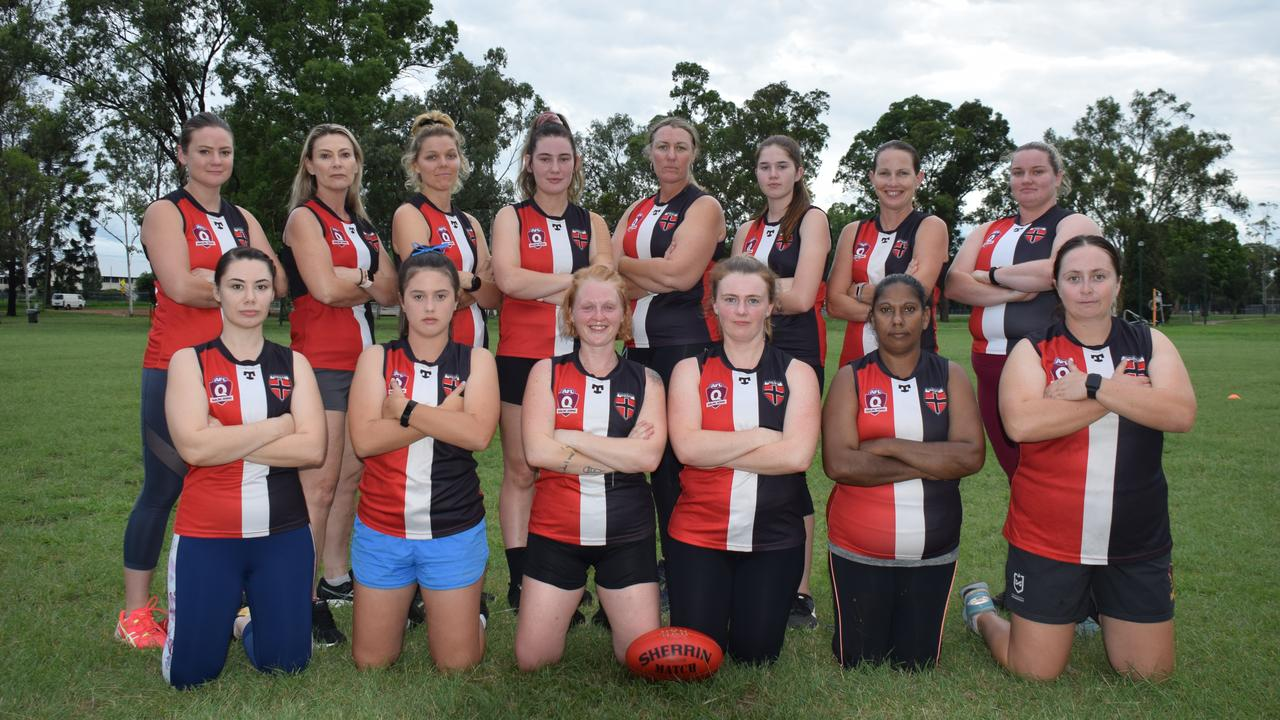 My amazing teammates in South Burnett Saints squad ready to tackle 2020. Photo: Tristan Evert