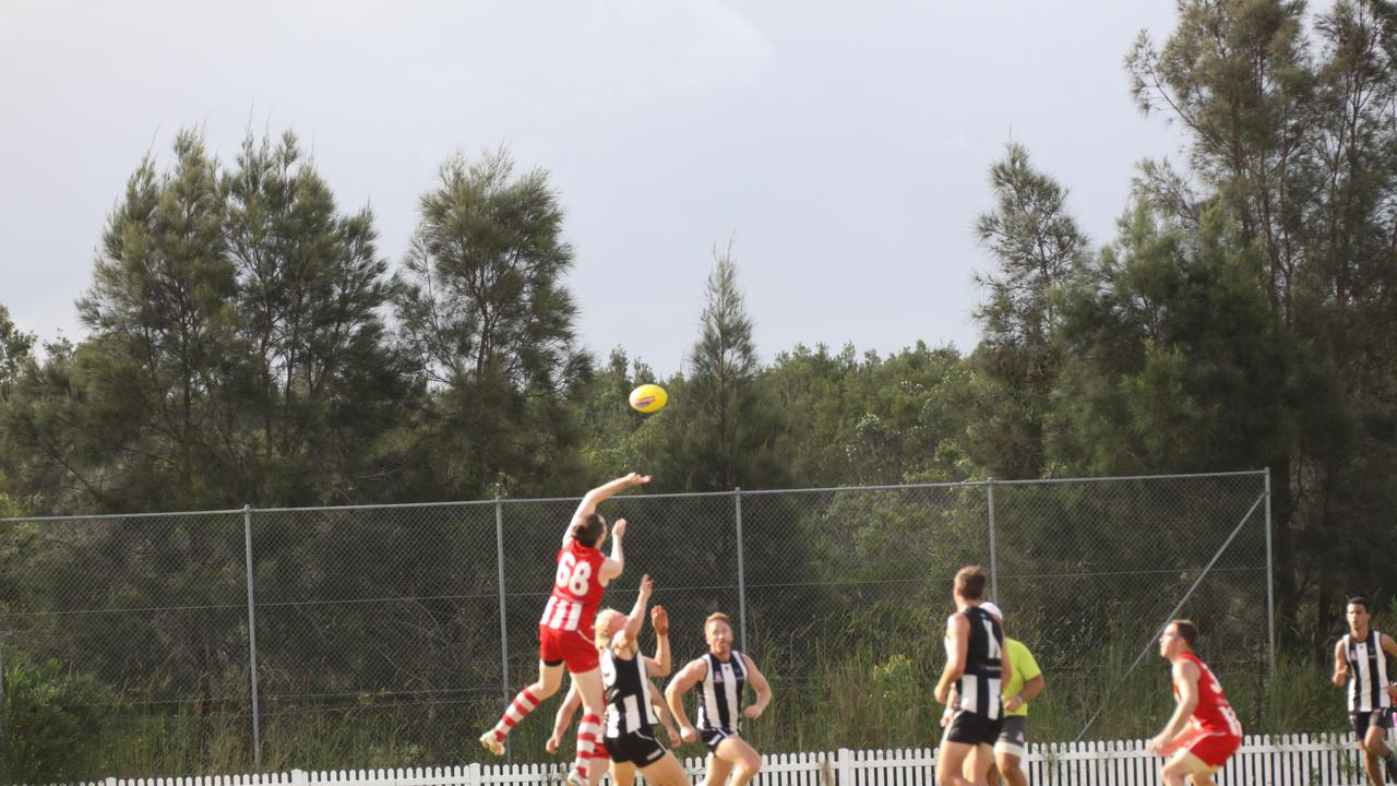 MAGPIES CRUSH ROOSTERS: IN a practice match at Byron Bay's Cavanbah Centre on Saturday the Byron Magpies overcame the Moorooka Roosters. Photo: Alsion Paterson