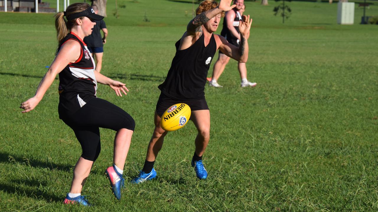 DROP PUNT: Saints defender Laura Blackmore with a kick down the boundary. (Picture: Dan Wairau)
