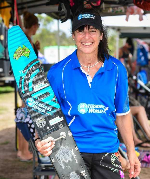 At 51, Mel Collins became the pending over 45 slalom record holder in January.