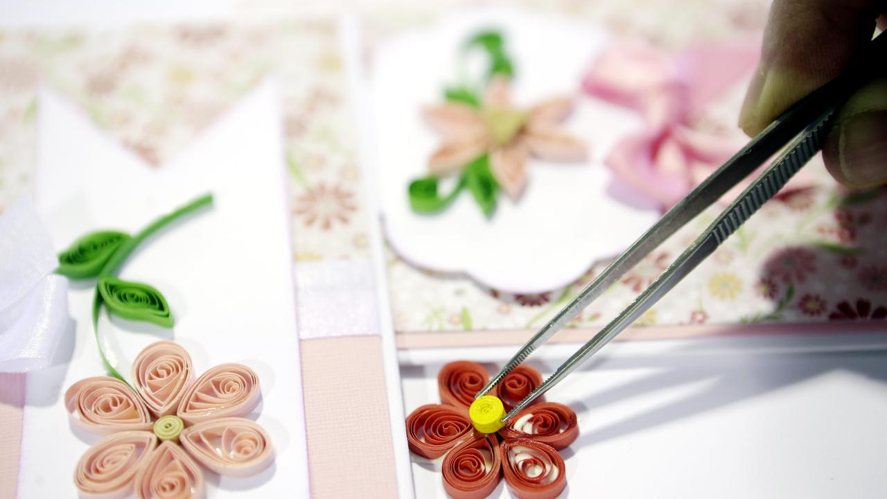 FUN ACTIVITY: You can join the quilling group held at Lismore Library on the fourth Thursday of each month. Photo: Megan Slade