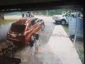 Terrifying close call captured on CCTV