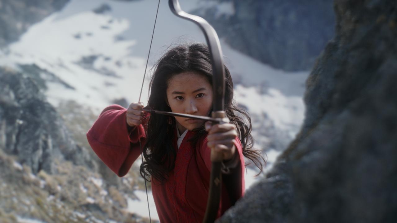 Yifei Liu as the fearless warrior woman Mulan.