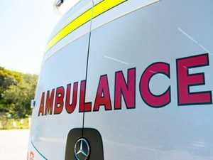 'Car versus truck': Woman taken to hospital after rollover