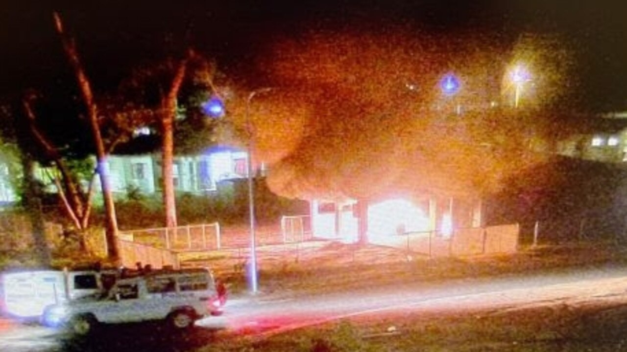 Police photos of Aurukun community unrest on New Year's Eve Dec 2019.