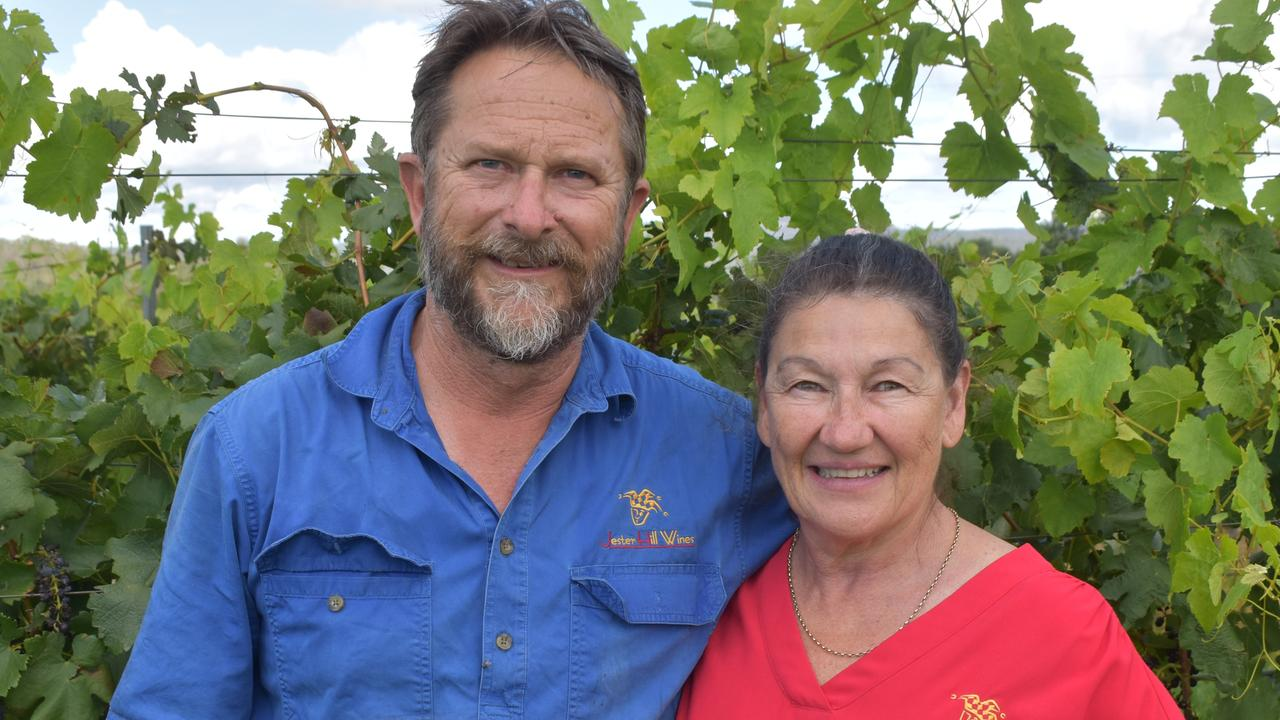 HOPEFUL: Jester Hill Wines owners Mick and Ann Bourke.