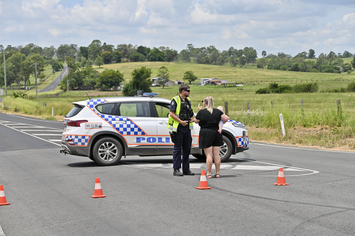 Fatal crash on Glenmorganvale Road. Picture: Cordell Richardson