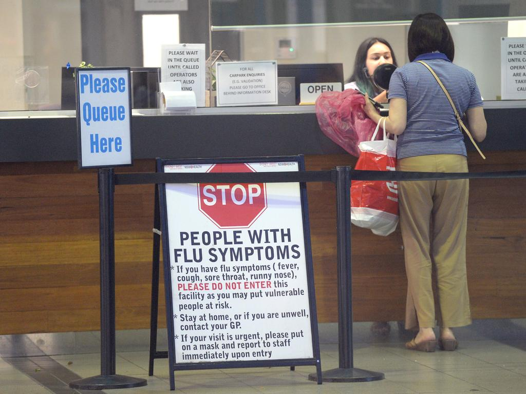 Coronavirus fears start to reverberate around Westmead Hospital. Picture: Jeremy Piper