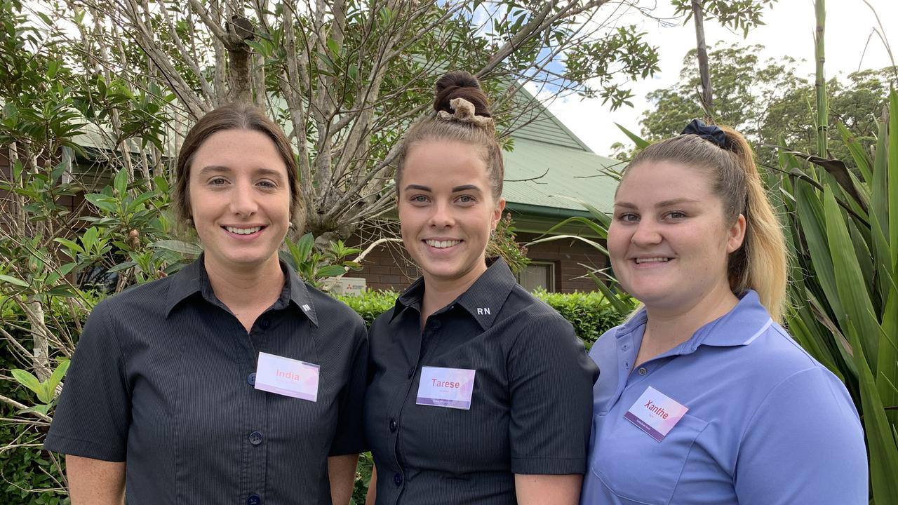 Graduate nurses India Browning-Devine, Tarese Wimmer and Xanthe Slight are heading to Western Downs hospitals to begin their 12-month graduate program.