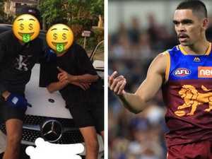 Gang taunts AFL star after stealing Merc