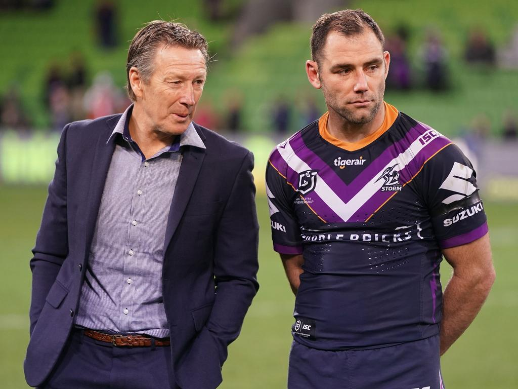 Melbourne Storm coach Craig Bellamy wants to reduce Smith's playing minutes this season but the champion hooker is in no mood to agree. Picture: AAP