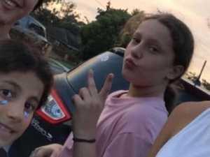 Kids' selfie moments before horror crash