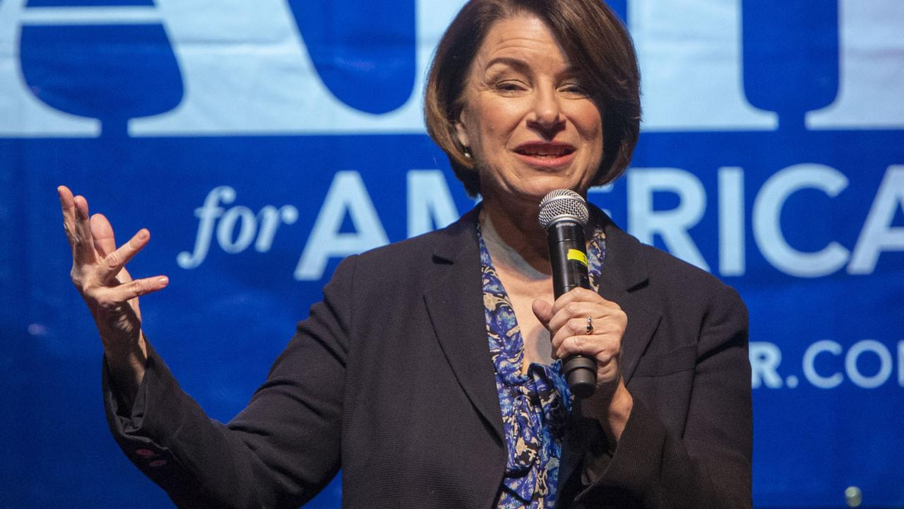 Amy Klobuchar revealed she was quitting the race today. Picture: Steve Griffin/The Deseret News/AP