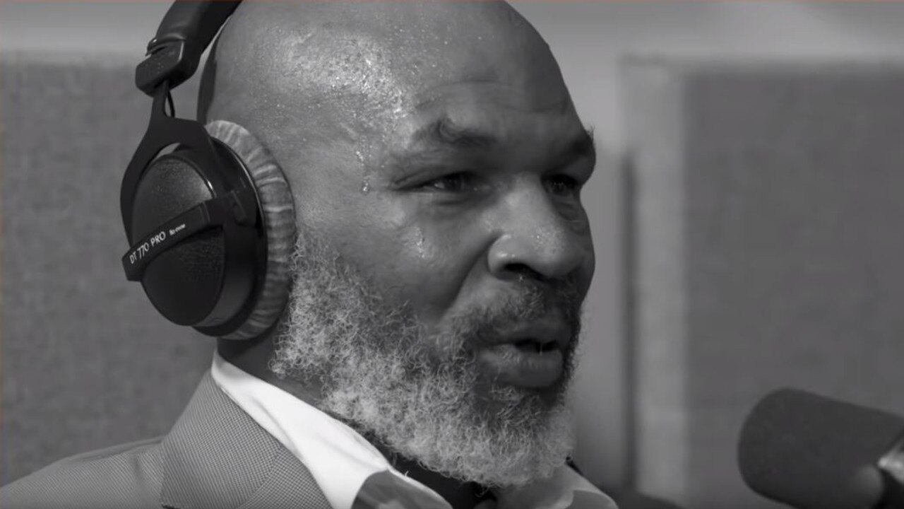Mike Tyson was so emotional he could barely speak.