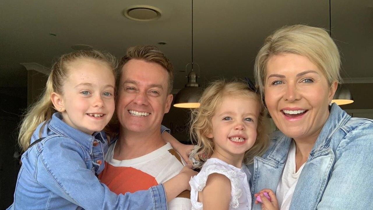 Grant Denyer shared a hilarious a text exchange he had with his wife Cheryl over their youngest daughter Scout, 4. Picture: Instagram/grantdenyer