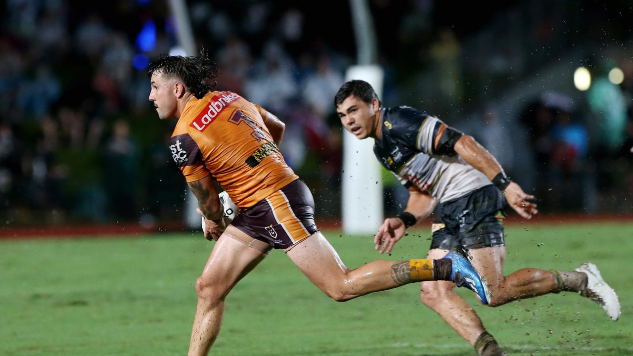 Jack Bird has been impressive for the Broncos this preseason, playing fullback in three trial games. Picture: Stewart McLean.