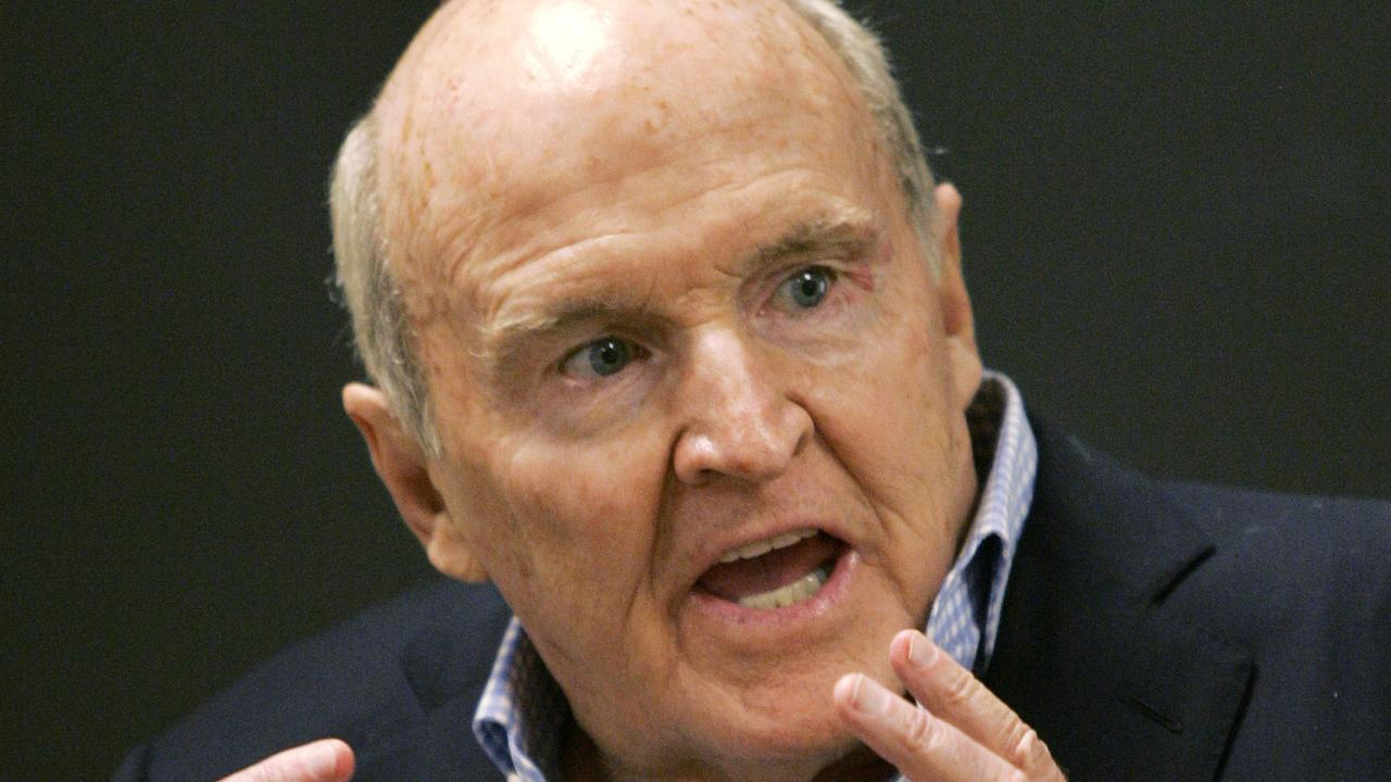 Former General Electric CEO Jack Welch has died at the age of 84. He was considered by many to be a business guru. Picture: AP Photo/Elise Amendola