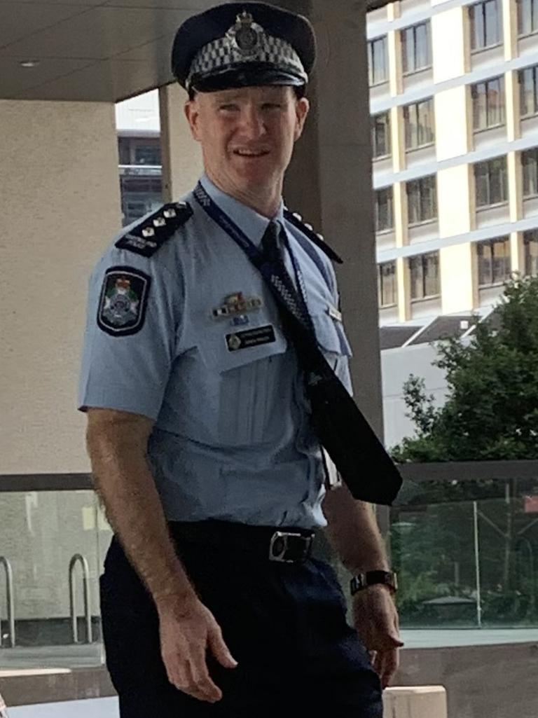 Acting Inspector Simon Tayler outside court