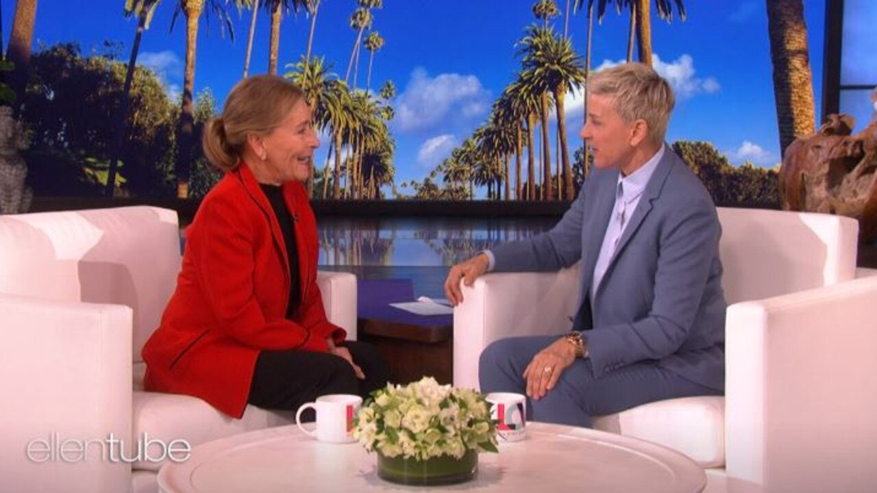 The iconic TV personality shared the news of Judge Judy's end on Ellen. Picture: YouTube