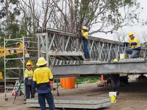 WATCH: Tucabia's replacement bridge gets built in 30 seconds
