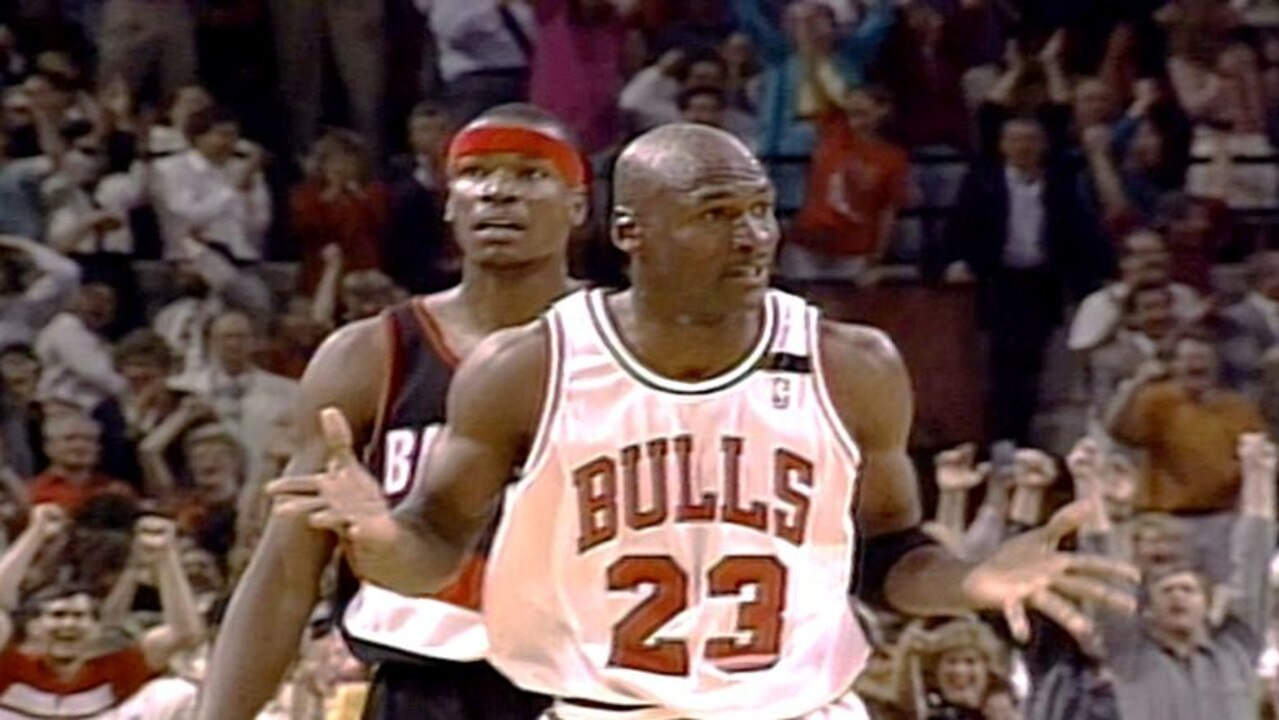 The Chicago Bulls' Michael Jordan more than made his mark in the NBA Finals series against the Portland Trail Blazers in 1992.