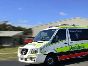 Man injured after truck collides with motorbike