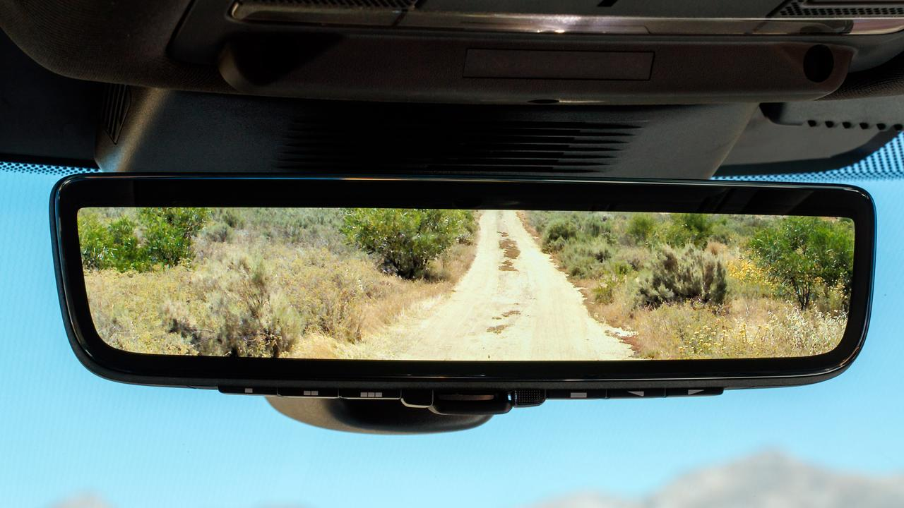 The Land Rover Clearsight rear view mirror.