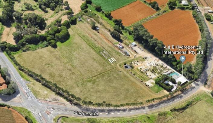Cudgen/Kingscliff farmland near the Tweed Valley Hospital site from the air.