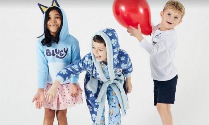 Kids dress up in their favourite bluey merchandise.