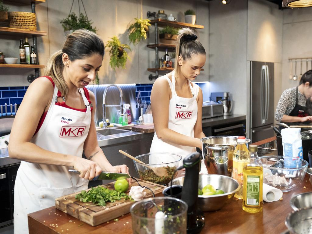 MKR contestants Roula and Rachael. Picture: Supplied/Seven