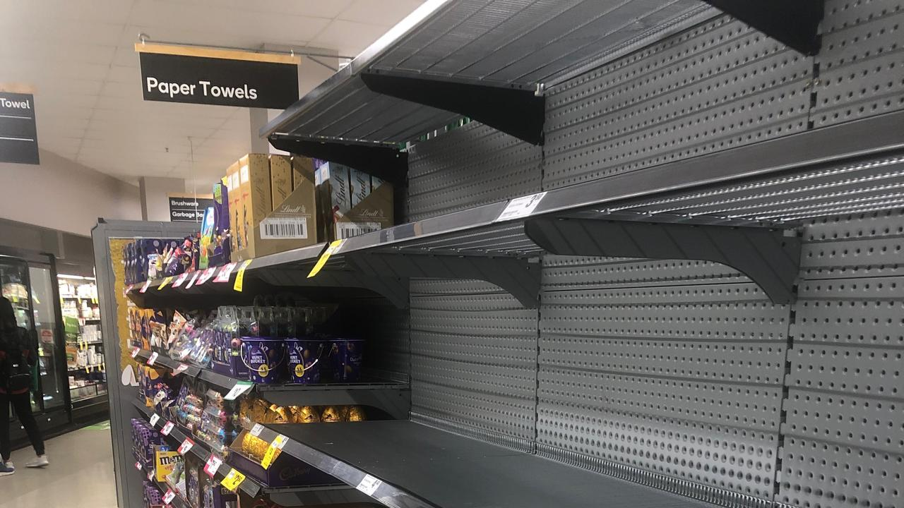 People are now stocking up on paper towel.