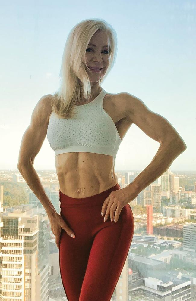 The Melbourne-based personal trainer has competed in more than 30 figure competition titles. Picture: Instagram / lesleymaxwell.fitness