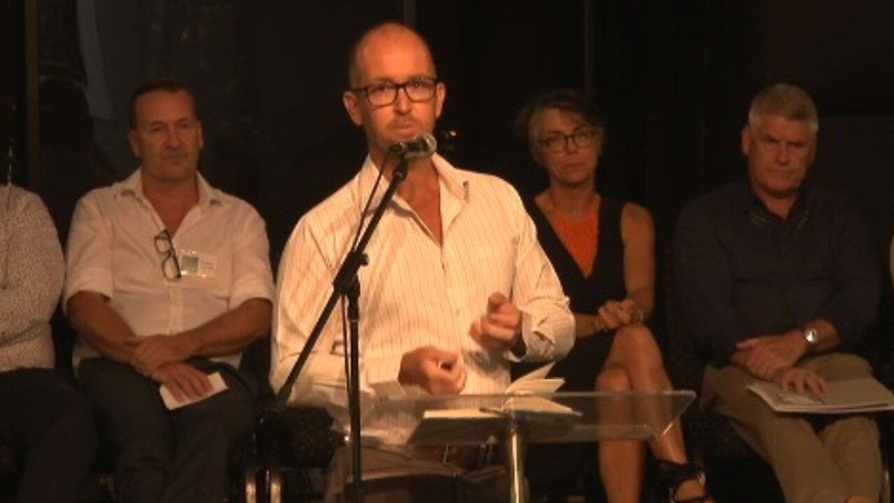 Noosa Election Forum 2020: Jess Glasgow at the microphone.