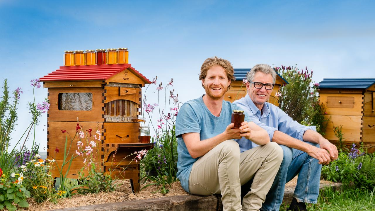 Left to right, Cedar Anderson & Stuart Anderson, the father-and-son inventing duo from the Northern Rivers that invited the Flow Hive.