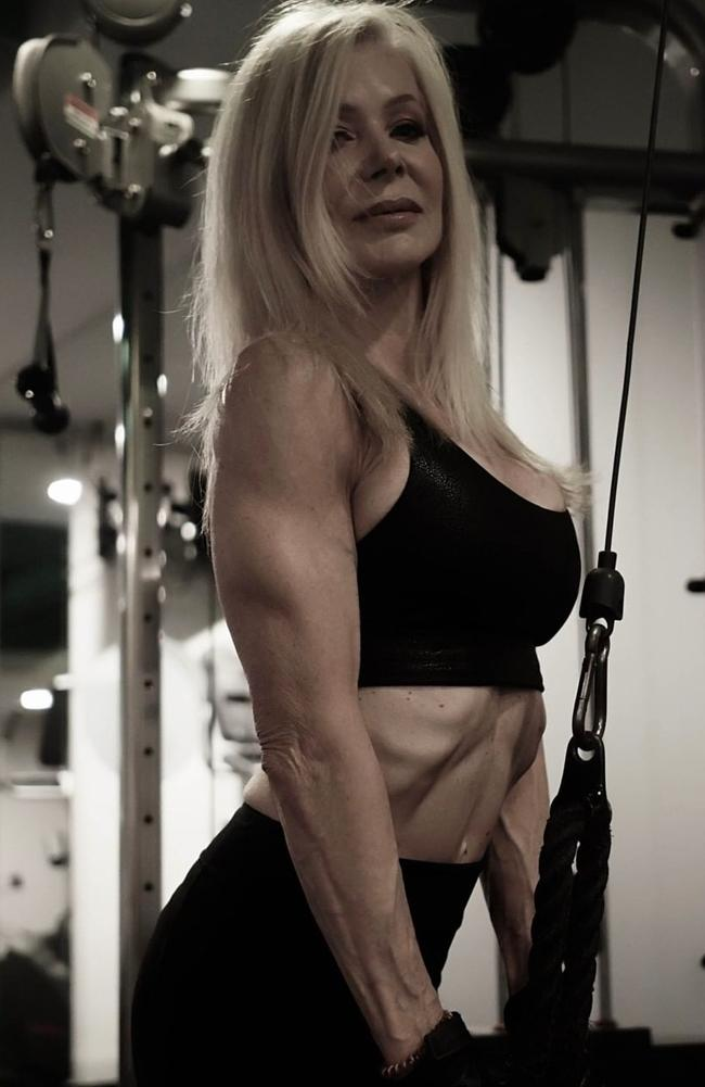 She said weights training is key to achieving a 'youthful look'. Picture: Instagram / lesleymaxwell.fitness