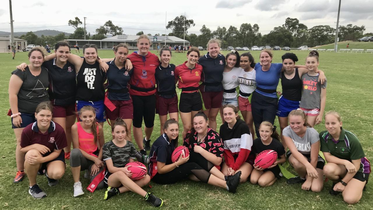 GO GIRLS: Gremlins women's league tag teams.