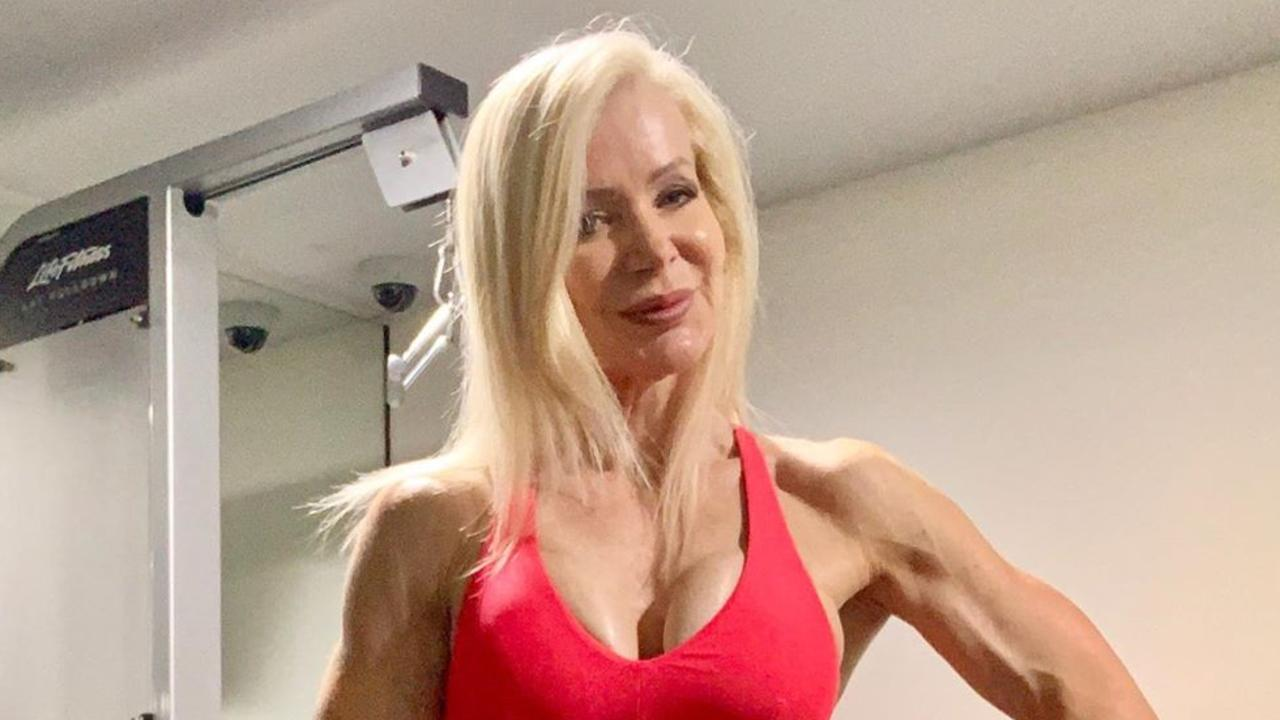 Melbourne personal trainer and grandmother Lesley Maxwell, 63, stuns with an Instagram snap showing off her ripped physique. Picture: Instagram/ lesleymaxwell.fitness