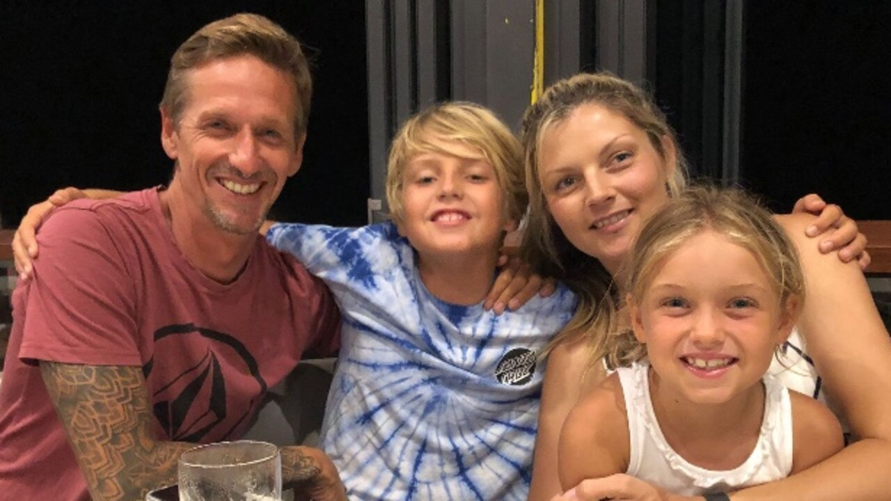 CANCER BATTLE: Sammy Ring picture with his wife Charmaine and children Marley, 11 and Ashia, 8, has recently been deliver a terminal cancer diagnosis.