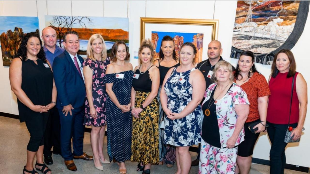 Here for Business 2019 participants Kendra Tombling with her partner, Steve Marsden, Tina Zawila, Jessica Frizzo, Kimberley Curd, Michelle Coats, Majella McDonaldDaniel McDonald, Helen McGuire, Amanda Thornton and Carmon Elsley.