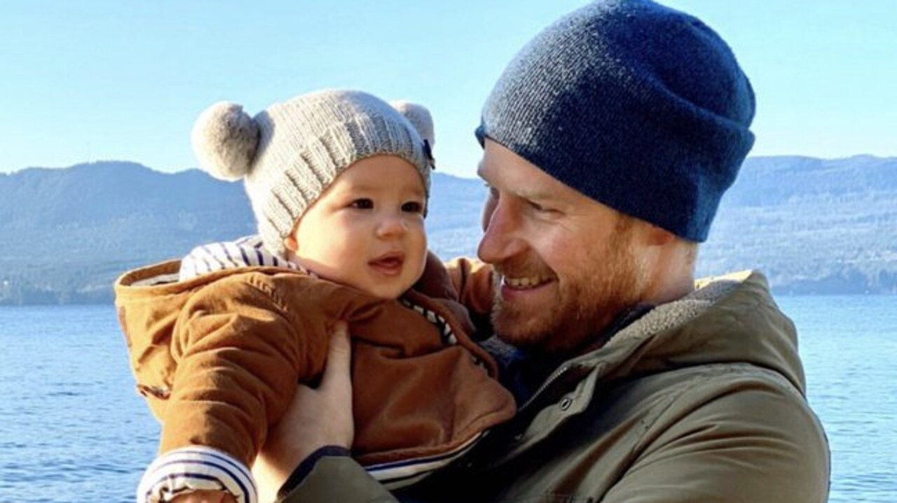 Prince Harry and Archie during a recent Canadian Vacation. Picture: Sussex Royal