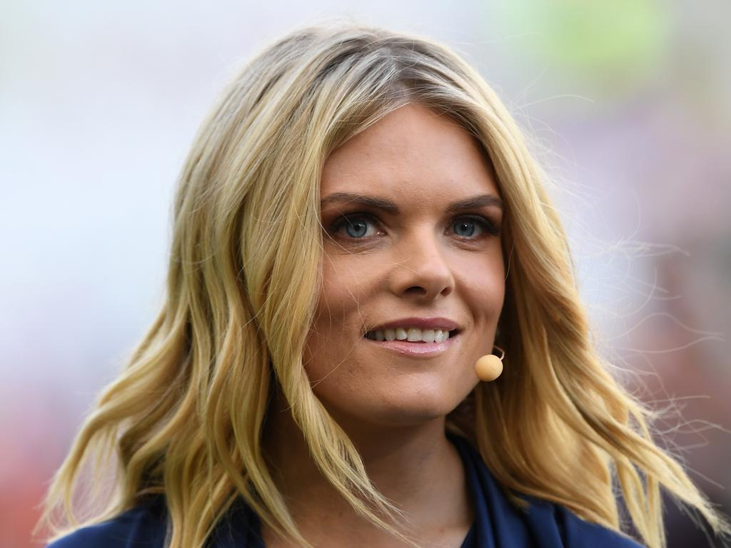 Channel Nine host Erin Molan during the 2019 NRLW Grand Final